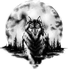 тату эскизы волки