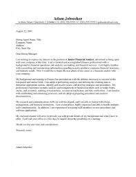 Sample Resume Cover Letter For Financial Advisor Bank Sample