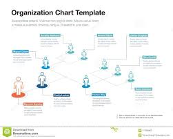 Organizational Chart With Description Simple Company Organization Hierarchy Chart Template With