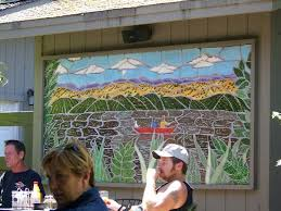 garden grill wall mosiac
