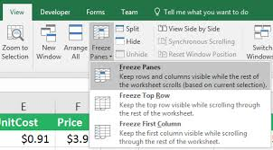 how to freeze panes in excel easily