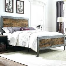 iron bedroom furniture sets. Metal Bedroom Furniture Queen Bed Industrial Brown Wood And Modern Iron Sets