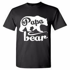 Bear T Shirt Design Cool T Shirt Designs Novelty Short Papa Bear T Shirts Fathers Day Shirt Papa Tshirt Father Day Gift O Neck Tees For Men Ladies T Shirts Shirts Design
