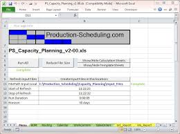 Production Scheduling In Excel Capacity Planning Tool Download Excel Template For