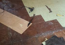 removing old l and stick floor tiles