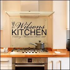 personalised kitchen wall sticker decals