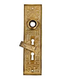 highly desirable 19th century original and intact oversized ornamental cast brass ceylon pattern entrance