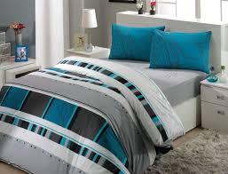 image of modern grey comforter king size bed