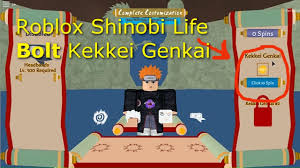 Roblox Shinobi Life [BOLT KEKKEI GENKAI!!!] - YouTube