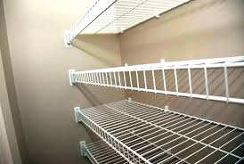 rubbermaid wire shelf install wire shelving wire closet shelving installation installing closet shelves prepare for your