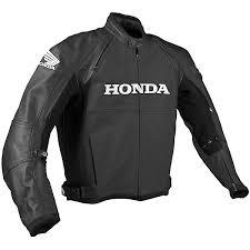 honda black leather jacket