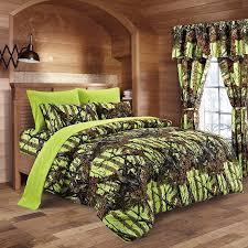 20 lakes neon green lime camo comforter sheet pillowcase set king