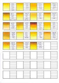 Copic Color Blending Chart Copic Swatches Yellow Copic Copic Markers Tutorial Copic