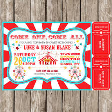 Circus Theme Invitation Circus Carnival Themed Baby Shower Ideas Baby Shower Ideas
