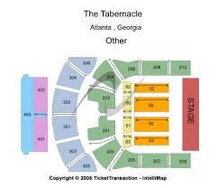 Tabernacle Atlanta Seating Chart The Tabernacle Tickets And The Tabernacle Seating Chart