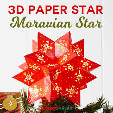 diy 3d paper star moravian star 20 points tree topper chrismtascrafts