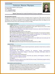 6 Cv Technicien Electronicien Lettre Officielle