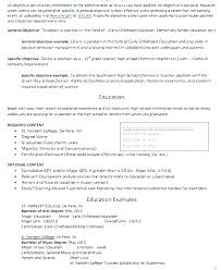 Teaching Resumes Fascinating Early Childhood Education Resume Sample Teaching Objective Resume