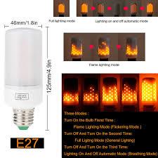 led burning flicker flame effect fire light bulb e27 e14 e12 b22 decorative lamp