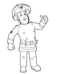 Coloriage De Sam Le Pompier A Imprimerll L