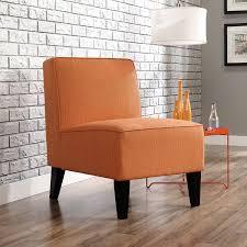 amazoncom sauder  nilsen armless accent poly chair orange
