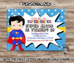 Personalized Superhero Birthday Invitations Superman Birthday Invitation Personalized Superman Invite Superman