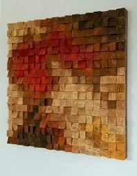 large rustic wood wall art