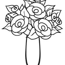Small Picture Flower Vase Coloring Page for Kids Flower Vase Coloring Page for