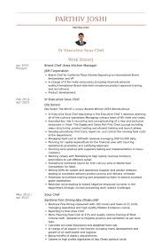 Brand Chef /Area Kitchen Manager Resume samples