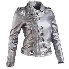 faux leather jacket women blue silver gold punk jackets pu 2018 new lady short coat moto