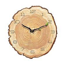 VANCORE Retro Wooden Wall Clock Annual Ring ... - Amazon.com