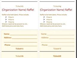 Template For A Raffle Ticket Download By Printable Tickets Template Free Raffle Ticket