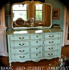 distressed antique furniture. french provincial dresser mint green and gold blue painted distressed antique furniture