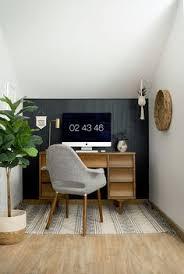 Home office wall decor ideas Occyc Diy Dark Vertical Shiplap And Office Nook Reveal Pinterest 323 Best Home Office Ideas Images In 2019 Desk Ideas Office Ideas