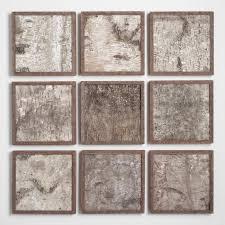 tremendous wall art sets minimalist birch panel set of 9 world market for living room 3
