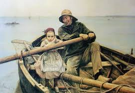 the helping hand by emile renouf offset lithograph fine art print