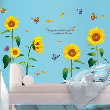 Sunflower Home Decor Popular Sunflower Decal Buy Cheap Sunflower Decal Lots From China