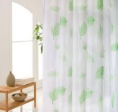 wimaha leaves plastic peva shower curtain liner clear mildew resistant waterproof bathroom curtain d