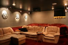 movie room furniture ideas. Inspiring Schemes Of Cool Home Theater Rooms Presenting Cream Fabric Sofa Sey And Small Brown Wooden Movie Room Furniture Ideas M