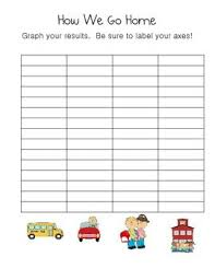 How We Get Home Chart How We Get Home Chevron Clip Chart And Graphing Activity