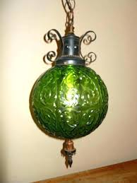 hanging swag lamp hanging globe light hanging globe lamp vintage mid century green glass globe hanging