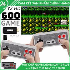 Máy Chơi Game 4 Nút Không Dây 2 Người Chơi Y2 Plus 600 Trò - Hỗ trợ cổng  HDMI 4K Kết nối không dây Tặng thẻ nhớ tải thêm được trò chơi
