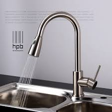 Brass Sink Mixer Hot And Cold Water Tap Pull Type Retractable