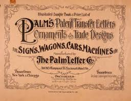 Illustrated Sample Book & Price List Of Palm's Patent Transfer ...