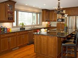 modern cherry kitchen cabinets. Kitchen Cherry Cabinets With Granite Countertops Rustic Modern Decor