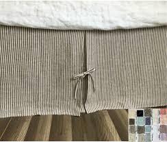 linen bedskirt king. Modren King Tailored Pleated Linen Bed Skirt With Ties Multiple Colors To Choose U2013 Intended Bedskirt King