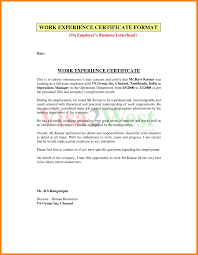 Experience Letter Format For Civil Engineer Copy As Certificate Of