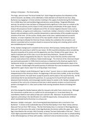 great gatsby sample essay student response by kb  higher english sample critical essay the great gatsby