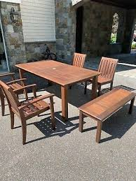 pottery barn ham table 4 arm chairs