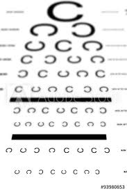 An Eye Sight Test Chart Buy This Stock Illustration And